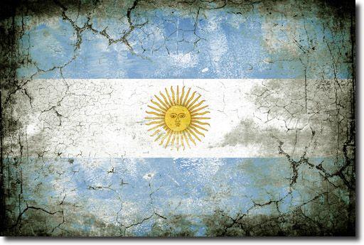 Vintage frame flag of Argentina