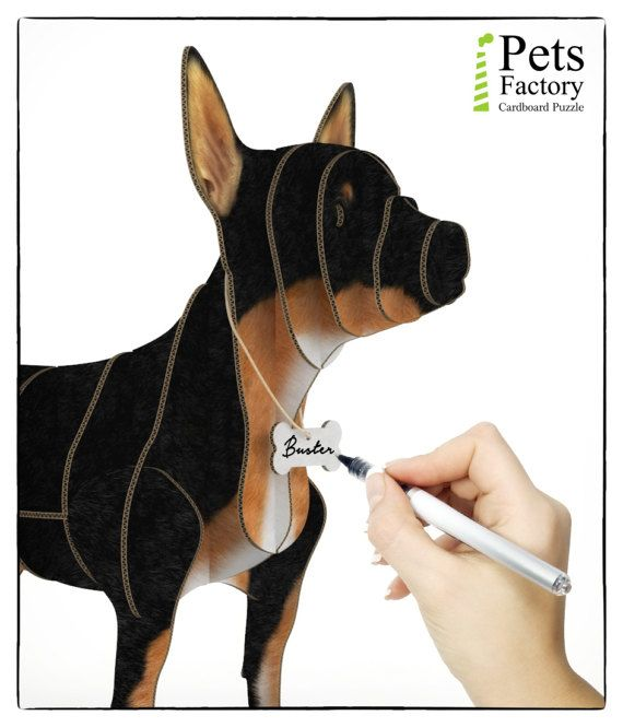These is 3D puzzle, a fun DIY Kit – Laser cut cardboard CHIHUAHUA BLACK finished. A great pastime for you, your kids and friends. Have fun assembling it and then use it as a shelf. This wonderful element of home or office decor will adorn your room. Perfect for shelf or as a gift!  The CHIHUAHUA BLACK pieces are quick and easy to assemble, laser-cut for precision fit using slotted construction. Our cardboard are superior to traditional ones due to the fact that cardboard is double layer and…
