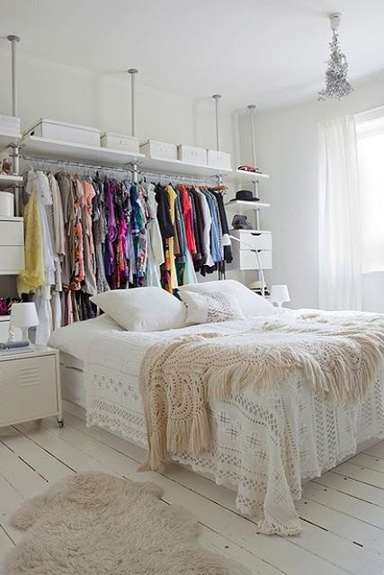 With Love From Kat: Studio Apartments. I don't like all the white, but I like the idea