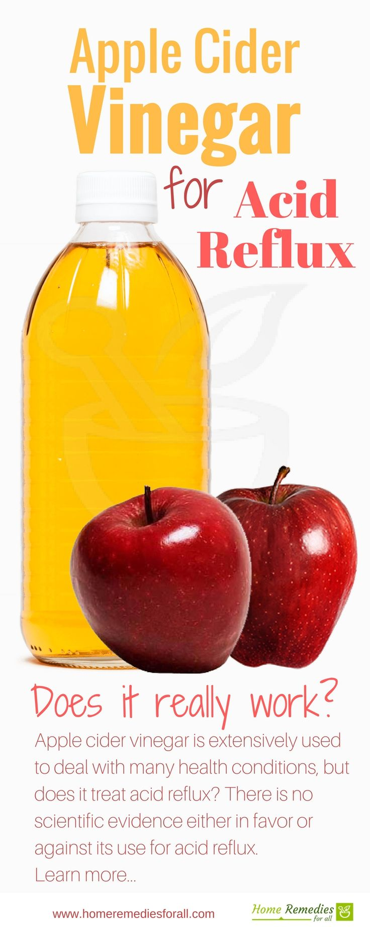 Use apple cider vinegar for acid reflux. It is a very good home remedy that effectively stops heartburn almost immediately.