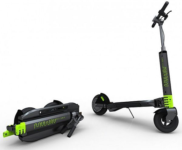 Myway compact foldable electric scooter is cute as well for Folding motorized scooter for adults