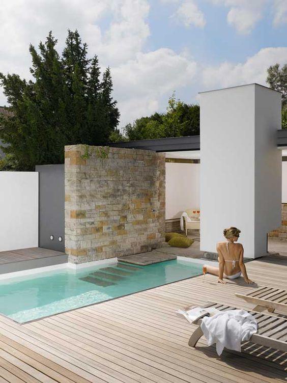 schones kleiner pool wohnzimmer gefaßt Bild der Cefcdbedd Versteckter Pool Pool Backyard Jpg