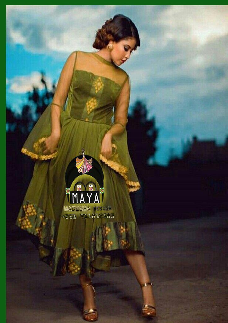 maya habesha traditional dress from