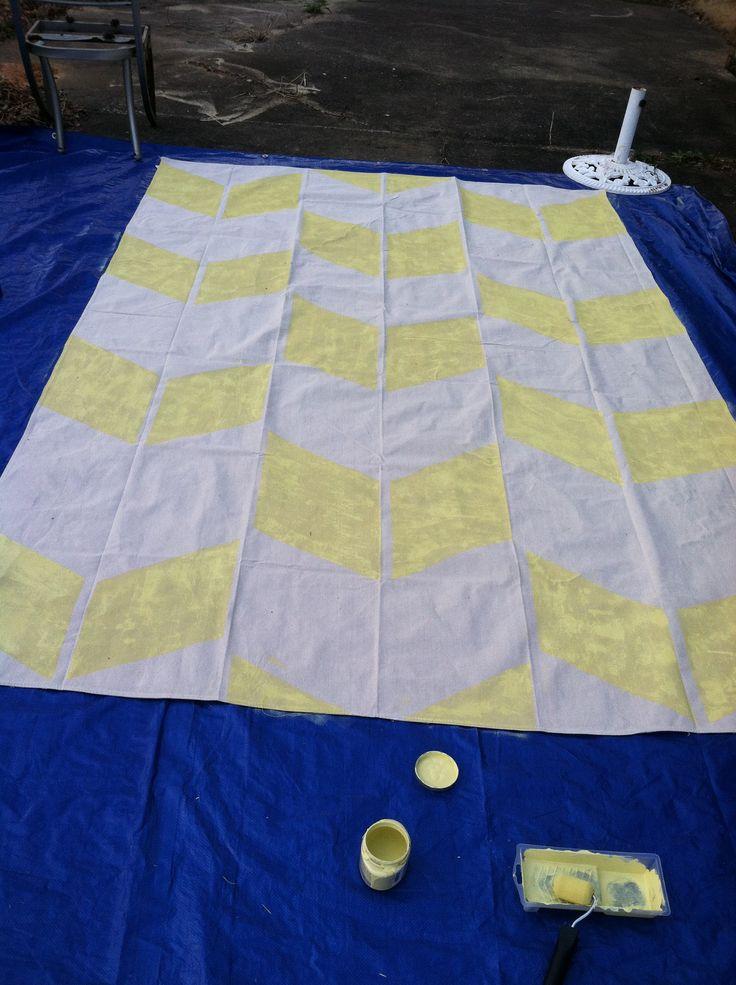 diy canvas drop cloth deck rug