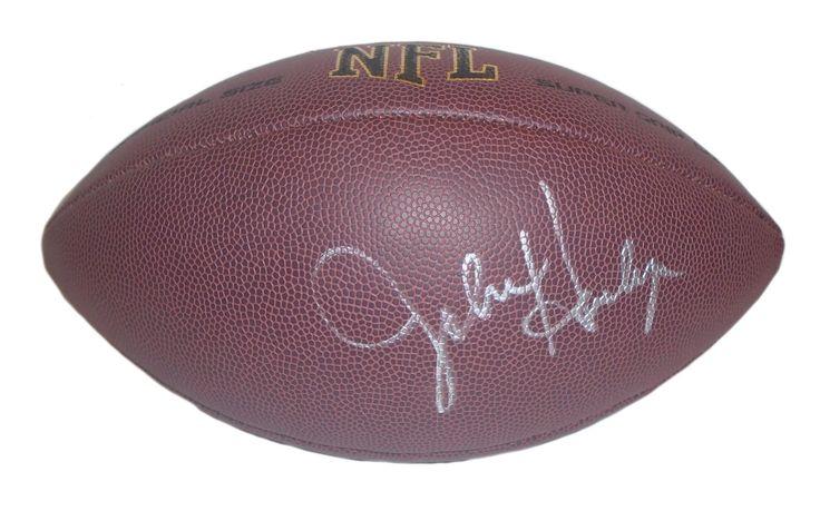 John Harbaugh Autographed NFL Wilson Composite Football, Proof Photo