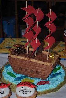 Pirate Ship Birthday Cake!