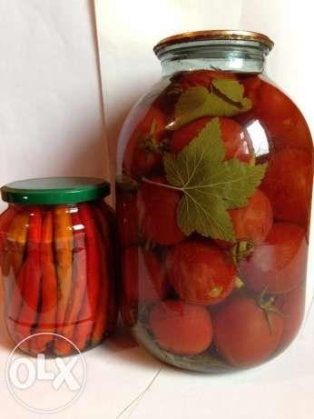 Домашняя консервация, помидоры, фасоль спаржевая, лечо, огонек, чили Днепродзержинск - изображение 1