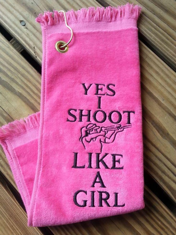 Skeet Trap Sporting Clays Shooter Towel Shooting Towel Clay Targets Pink in Sporting Goods, Hunting, Range & Shooting Accessories | eBay