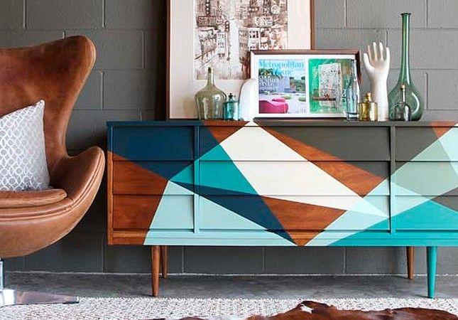 13 Geometric Paint Jobs You'll Love Right Now via Brit + Co