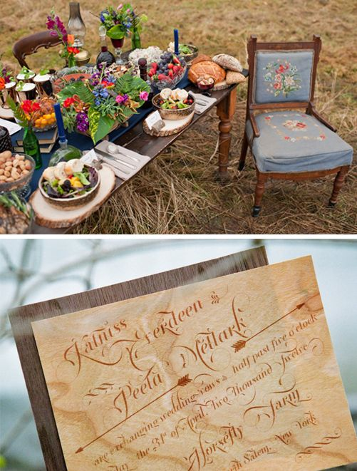 hunger games wedding inspiration board