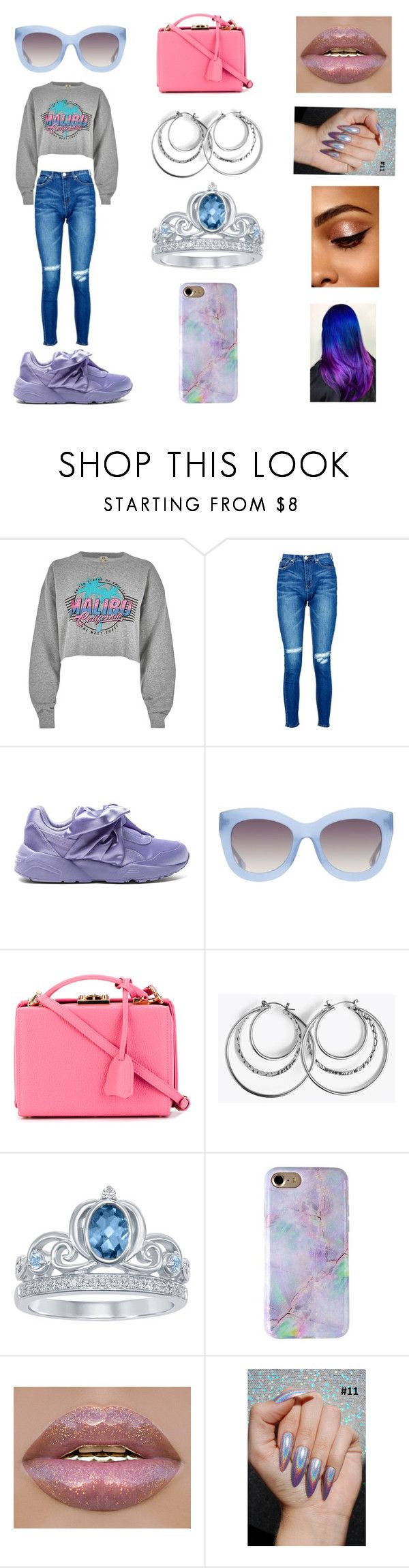 """""""Colors of the Wind"""" by rosieposie99 on Polyvore featuring River Island, Boohoo, Puma, Alice + Olivia, Mark Cross and Disney"""