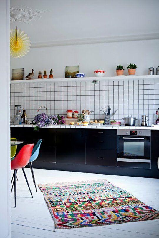 Tiled worktops