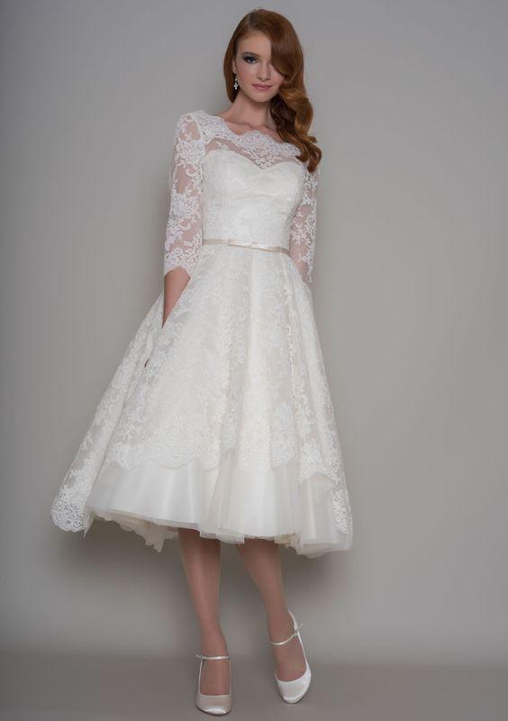 26 best Vintage Wedding Dresses images on Pinterest | Short wedding ...