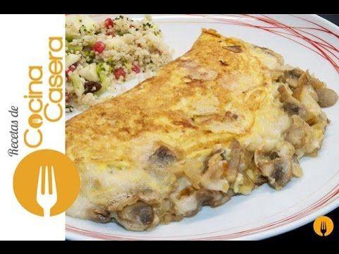 Omelette. Receta rellena de Champiñón y Queso   Recetas de Cocina Casera - Recetas fáciles y sencillas