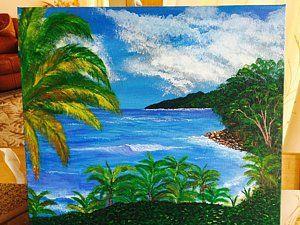 Trinidad Painting - Matelot Roadside Lookout  by Aboobaker  Sidat