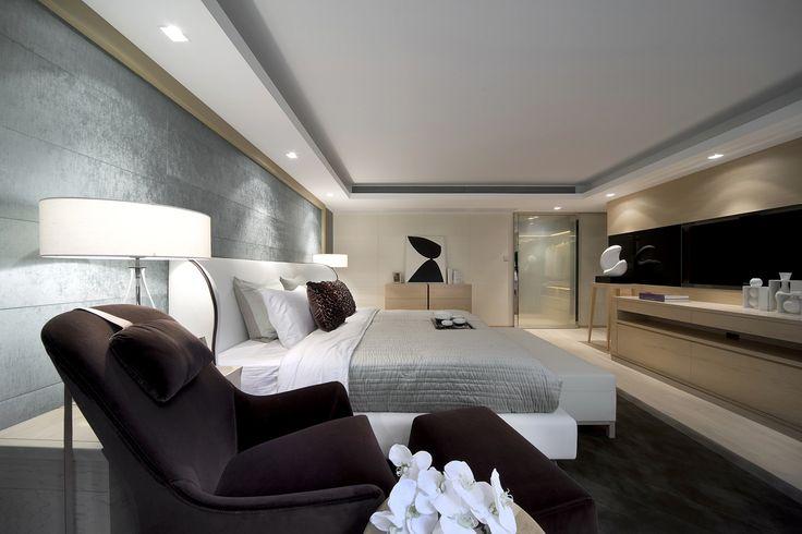 Zklidňující atmosféra je ideální pro příjemný spánek. | Steve Leung Designers:
