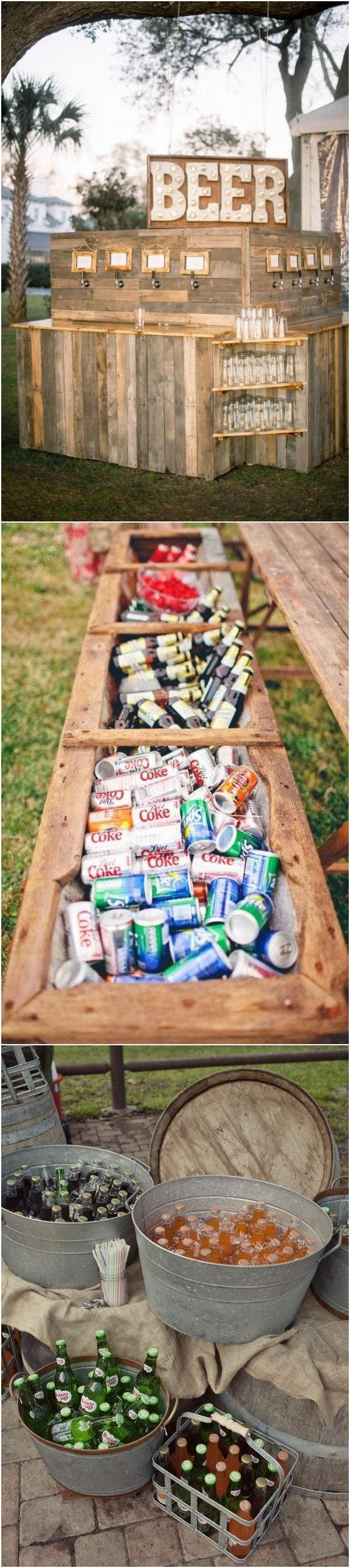 creative drink bar for country rustic wedding ideas