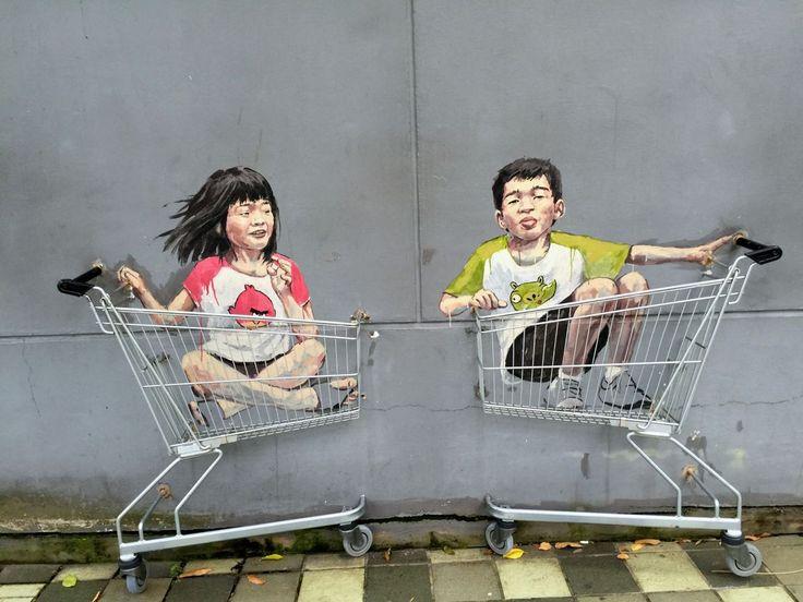 Bazgranie na ścianie, czyli Zacharevic i singapurski street art