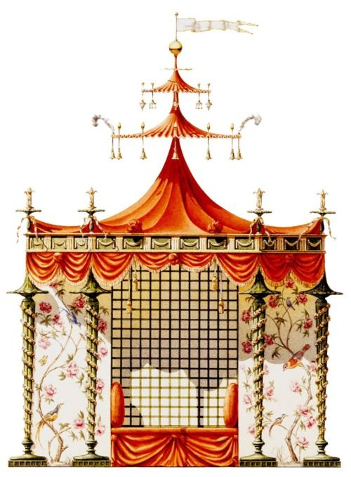 Jean-Baptiste Pillement, Chinese tent for Marie Antoinette's gardens at Trianon, 1780