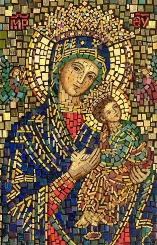 Mosaico Nuestra Señora del Perpetuo Socorro.