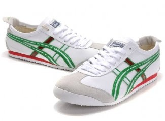 Asics Shoes Mexico 66 White Green Red        Model: Wholesale-Asics-Shoes-0107      999 Units in Stock    Price:   $75.00