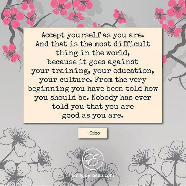 You are good as you are.
