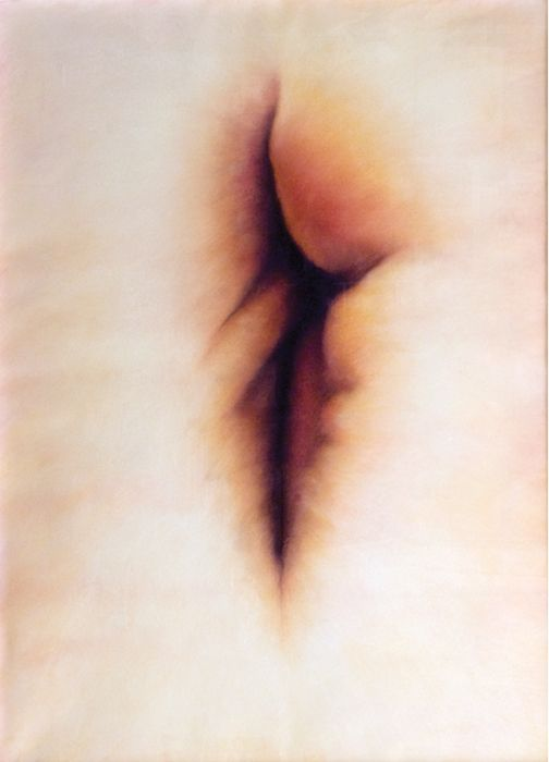 Katerina Papazissi - 'Dicotylhedon', 2012 Pastel on Paper #katerinapapazissi, #pastel, #pasteldrawing, #contemporarygreekpainting, #opening, #between, #body, #bodyart, #inbetween