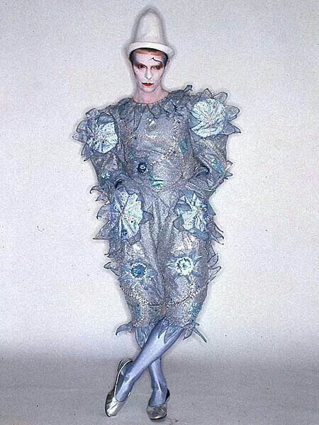 Bowie's Pierrot costume designed by his longtime friend Natasha Korniloff. Photo by Brian Duffy.