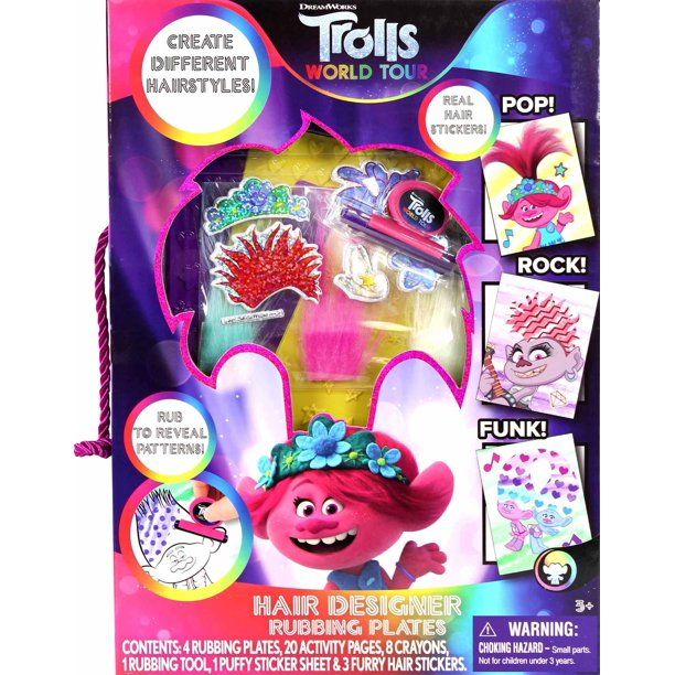 Trolls World Tour Hair Designer Rubbing Plates Coloring Sheets Walmart Com Activity Kits Quick And Easy Crafts Coloring Sheets