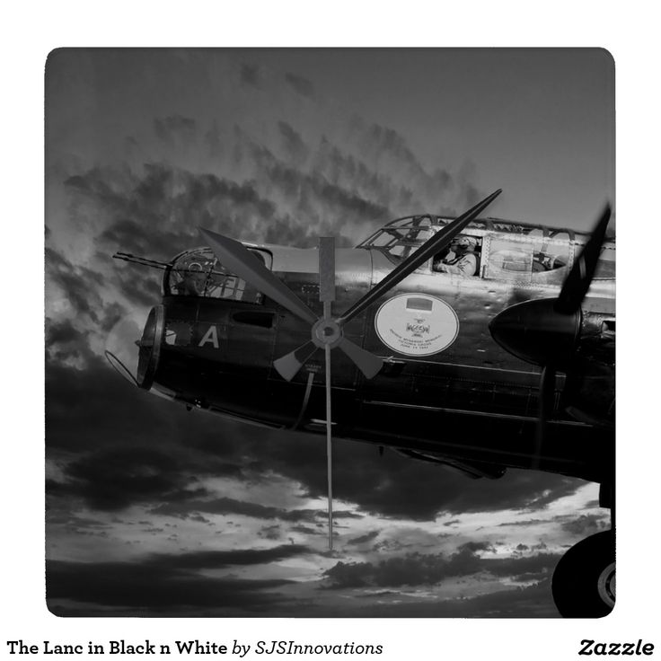 The Lanc in Black n White Square Wallclock