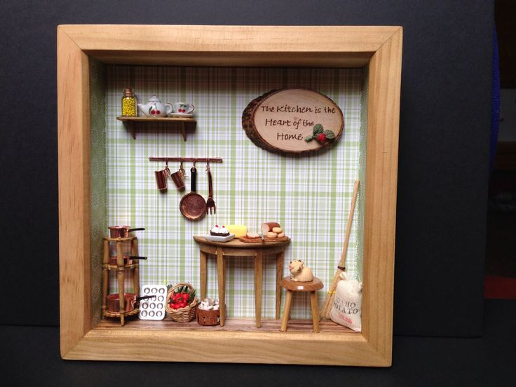 Kitchen Shadow Box with food made from Fimo. & 26 best Shadow Boxes images on Pinterest | Shadow box Shadows and ... Aboutintivar.Com