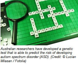 Genetic Test Predicts Risk for Autism Spectrum Disorder- Pinned by @PediaStaff – Please Visit http://ht.ly/63sNt for all our pediatric therapy pins