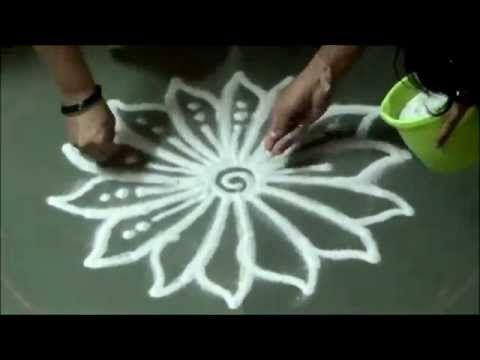 Sanskar bharati rangoli - YouTube