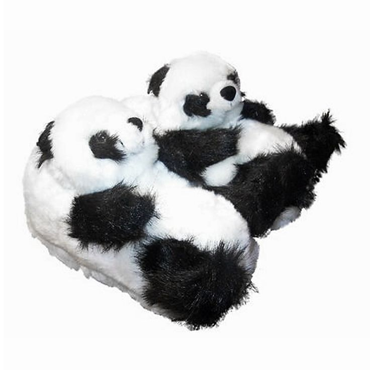 Panda slippers miss alaneous pinterest products - Most comfortable bedroom slippers ...