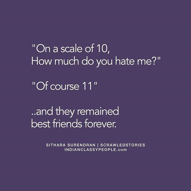 That's the power of friendship