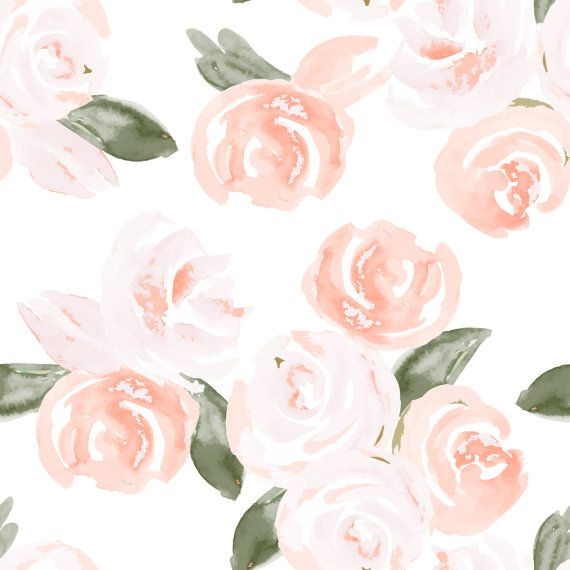Removable Wallpaper  Floral Watercolor Design