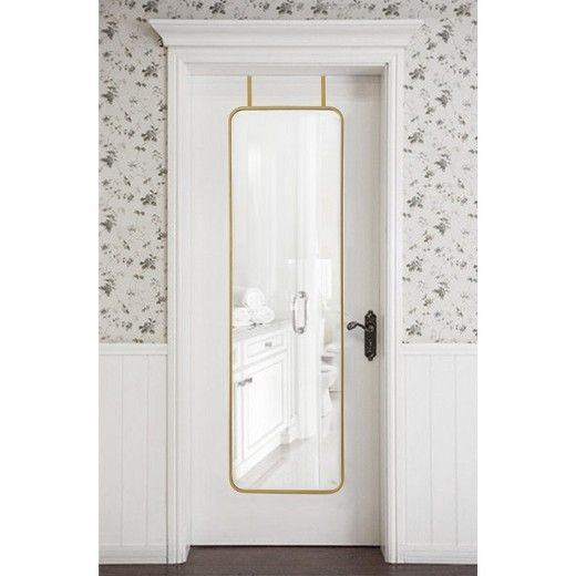 You can make sure you leave your home looking your best with Brass Over-the-Door Mirror from Project 62™. The brass finish on this metal mirror adds a touch of warm detail to the room you use it in. Add to your bedroom, bathroom or coat closet to make getting ready simple.<br><br>1962 was a big year. Modernist design hit its peak and moved into homes across the country. And in Minnesota, Target was born — with the revolutionary idea to celebrate design for all. ...