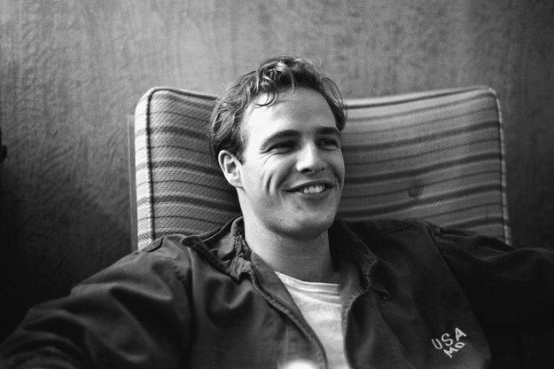 Those dimples. | 19 Reasons Young Marlon Brando Will Ruin You For The Rest Of The Day