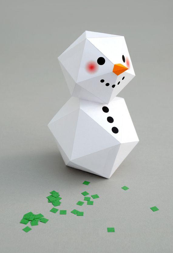 geometric snowman // minieco