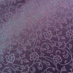 Floral Ivy Reversible Heavy Weight Jacquard Royal Purple Thick Heavy Weight Upholstery Fabric HDA03