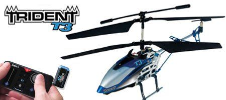 Interactive Toy Trident T3 Smart Device Helicopter with 3 Channel Control -- For more information, visit image link.
