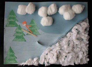 3D Ski Jump Art