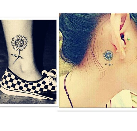 210 best images about tattoo ideas on pinterest tiny for Sunflower temporary tattoo