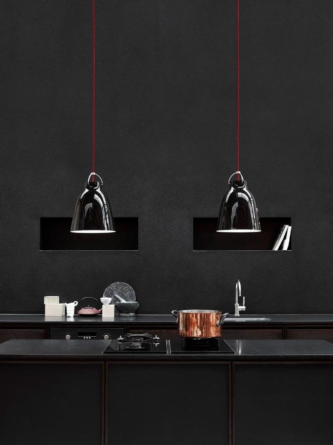 The Caravaggio series by @Rita Alves  | #design Cecilie Manz #black #kitchen #interiors