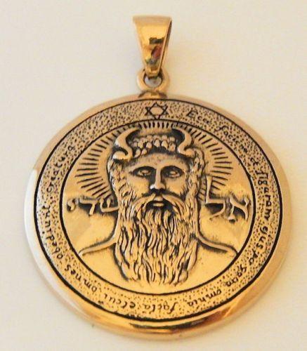 Archangel METATRON Sun Talisman Gold tone Bronze SOLOMON Pentacle Sun Pendant