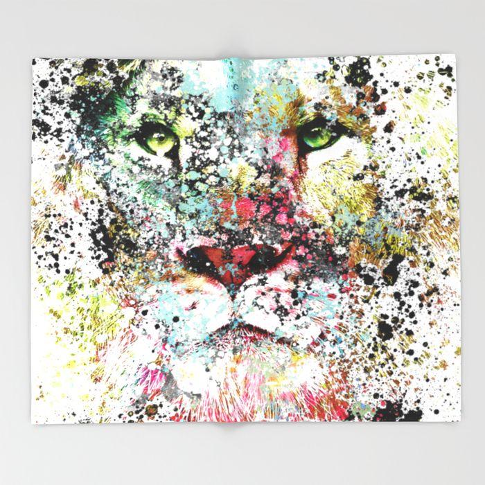 THE KING III Throw Blanket #home #decor #art #society6