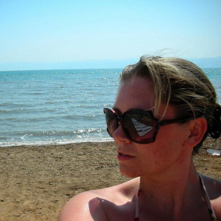 Technical Writer Jacqueline getting a sunburn at the Dead Sea in Jordan. The Dead Sea is over 400 m deep, and is one of the saltiest lakes in the world. People have traveled to the Dead Sea for thousands of years!