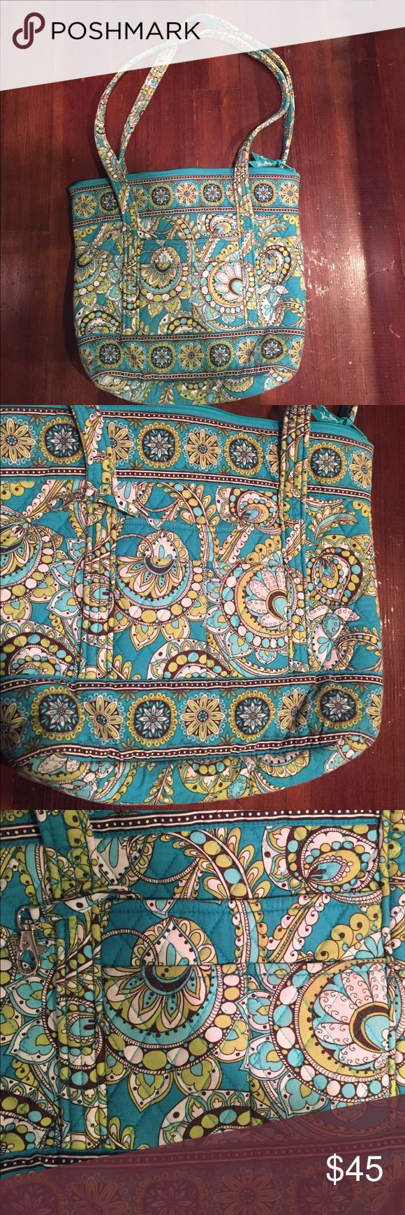 Vera Bradley tote bag Brand-new, never worn! Beautiful tote bag by vera Bradley and fun, limited edition print that is no longer available! Perfect for travel, for school, or an every day bag! Vera Bradley Bags Totes