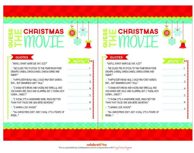Free Christmas Printables With Favorite Movie Quotes: 25+ Best Ideas About Christmas Trivia Games On Pinterest