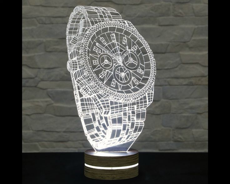 This wrist watch shaped 3D LED lamp has an amazing effect. You can use it as home and office decor, table lamp, night light etc. It creates different ambience in your rooms..  Innovative LED lamp...